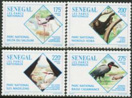 SENEGAL 1996 National Parks Flamingo Chimpanzee Monkey Hornbill Birds Animals Fauna MNH - Flamingo