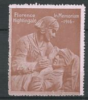 Rare VIGNETTE Patriotique DELANDRE Florence Nightingale - WWI - WW1 Poster Stamp Cinderella 1914 1918 - Military Heritage