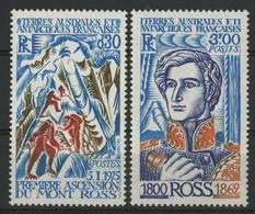 """TAAF N° 61 + 62 Cote 14 € Neufs ** (MNH) Qualité TB """"Ascension Du Mont Ross"""" - Neufs"""