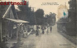 LE HOME-SUR-MER LA GARE ET LE BAZAR BARRATES ANIMEE TRAIN TRAMWAY 14 CALVADOS - Non Classés