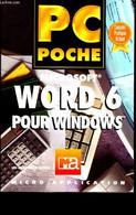 Pc Poche - Word 6 Pour Windows - Kaufer Mechthild, Collectif - 0 - Informatique