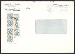 FRANCE 1964-71 TAXE YT N° 99 0,30 MYOSOTIS SUR ENVELOPPE - 1960-.... Briefe & Dokumente