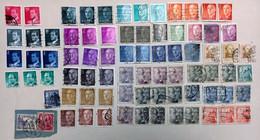 LOT DE 78 TIMBRES OBLITERES DIRIGEANTS ESPAGNE - Colecciones