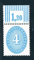 Deutsches Reich Dienstmarken Michel Nummer 127x WOR Postfrisch - Dienstpost
