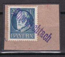 Bayern - 1914/16 - Michel Nr. 97 L1 Oberviechtach - Briefst. - 100 Euro - Beieren