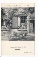 Carte De Tableau PERRACHON Joseph PEROUGES 01 Société Lyonnaise Des Beaux Arts Salon 1935 Photo Sylvestre LYON - Pérouges