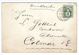1899 From BASEL FIL.S.C. To COLMAR (German Occ.) . Drucksache Printed Matter 5 Rp. Cent. JOH.ULRICH JOOST & CO. LANGAU - Briefe U. Dokumente