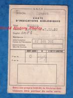 Carte Ancienne Qui S'ouvre - SNCF - Région Ouest - Vers 1950 1960 Indications Biologiques Vaccination Maladie - Cheminot - Unclassified