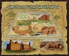 """KAZAKHSTAN /KASACHSTAN /KAZAJISTAN -EUROPA 2020 -""""ANCIENT POSTAL ROUTES""""-SOUVENIR SHEET - 2020"""