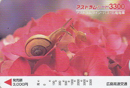 Carte Prépayée JAPON - ANIMAL - ESCARGOT - SNAIL JAPAN Prepaid Bus Card - SCHNECKE Karte - Shell Coquillage - FR 454 - Non Classificati