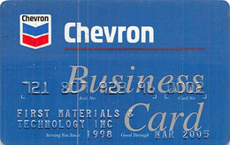 Chevron Business Card - Credit Card Exp Mar 2005 - Credit Cards (Exp. Date Min. 10 Years)