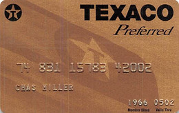 Texaco Preferred Credit Card Exp 05/02 - Credit Cards (Exp. Date Min. 10 Years)
