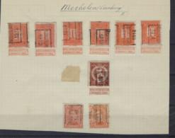 Likwidatie Met Voorafstempeling MECHELEN ( LIMB. ) Met PELLENS En ALBERT I ; Staat Zie Scan ! LOT 353 - Roller Precancels 1910-19