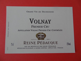 Etiquette Neuve Volnay 1er Cru Reine Pédauque - Bourgogne