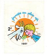 Autocollant  - Jeunesse Au Plein Air 1981 - Autocollants