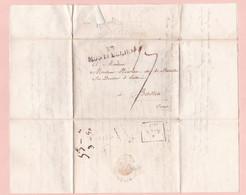 Lettre Du 20 Mars 1821 De Montpellier  Pour Bastia Corse , 4 Scans - 1801-1848: Precursors XIX
