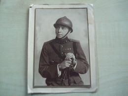 Grande Photo   Ancienne MILITAIRE A IDENTIFIER - Guerra, Militares
