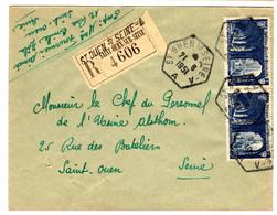 49000 - ST  OUEN SUR  SEINE Recette Auxiliaire - 1921-1960: Periodo Moderno