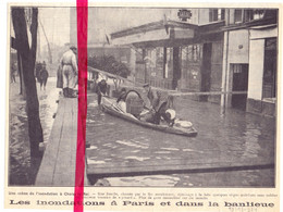 Orig. Knipsel Coupure Tijdschrift Magazine - Paris , Choisy Le Roi - Inondations  - 1924 - Unclassified