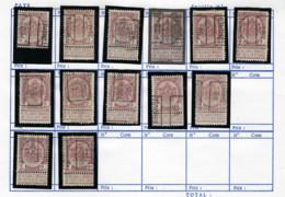 Rijkswapen Nr. 55 (13 X) Allen Voorafgestempeld TONGEREN  /  TONGRES ; Staat + Detail Zie 2 Scans ! LOT 353 - Zonder Classificatie
