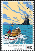 Timbre Privé** - Tintin / Kuifje / Tim  - Milou / Bobbie / Struppi - L'Île Noire / De Zwarte Rotsen / The Black Island - Privé