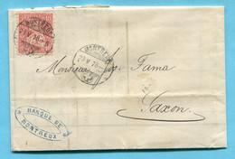 Faltbrief Von Montreux Nach Saxon 1878 - Covers & Documents