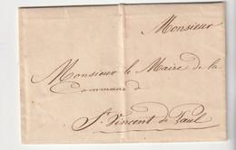 Lettre (pli Confié ?) Dax - St Vincent De Paul , 1830 - 1801-1848: Precursors XIX