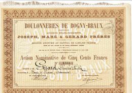 08-BOULONNERIES DE BOGNY-BRUAUX (Ardennes).  Anc Ets Joseph, Maré Et Gérard Frères. 1886 - Other