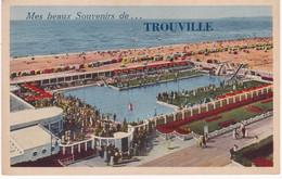 Calvados : TROUVILLE : Carte  à Système Dépliant - Complet - 10 Mini Vues : Mes Beaux Souvenir De Trouville - Trouville