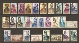 Espagne 1960/70 - Les Conquérants De L'Amérique - Petit Lot De 28 Timbres° - Los Conquistadors - Mezclas (max 999 Sellos)