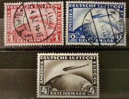 ALLEMAGNE - 1928 - N° PA 35/37 O / * (voir Détail Et Scan) - Posta Aerea