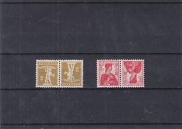 Suisse - Yvert 128 A * + 131 A * - Tête Bêche - Valeur 7,00 Euros - Tete Beche