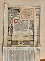 ROYAUME  De  ROUMANIE  RENTE  UNIFIÉE  5%  ---------Obligation  De  500 Franci - Unclassified