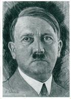 """(L-N) DR  Ansichtskarte """"Porträt A.Hitler"""" EF Mi 744 SSt 18.6.40 MÜNCHEN """"Begegnung Hitler Mussolini"""" - Covers & Documents"""