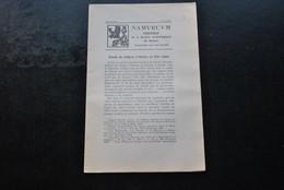 NAMURCUM SOCIETE ARCHEOLOGIQUE DE NAMUR N°2 1936 Régionalisme Procès De Religion Namur XVIè Sculpture Abbaye De Gembloux - Belgio