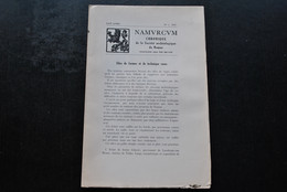 NAMURCUM SOCIETE ARCHEOLOGIQUE DE NAMUR N°1 1947 Régionalisme Céramique De Tournai Doyens Concile Chimay Silex Technique - Belgio