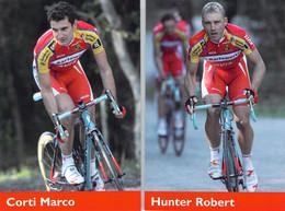 CYCLISME: CYCLISTE : ROBERT HUNTER - MARCO CORTI - Cycling