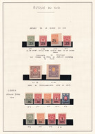 ARMEE DU SUD / SIBERIE / NORD ...  - 1919 - PETITE COLLECTION DETAILLEE SUR 4 PAGES ** MNH QUELQUES * MLH - VARIETES ! - South-Russia Army