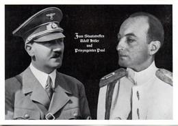 """(L-N) DR  Sonderkarte """"Staatstreffen Adolf Hitler U. Prinzregenten Paul"""" EF Mi 692 SSt 1.6.1939 BERLIN """"Staatsbesuch..."""" - Covers & Documents"""