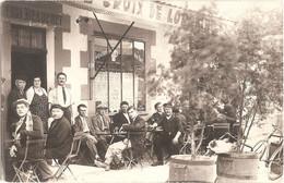 """Dépt 55 - BAR-LE-DUC - Carte-photo Devanture CAFÉ Du CHAMP DE MARS (Maison Henri BEAUCHET) - """"BIÈRE CROIX DE LORRAINE"""" - Bar Le Duc"""