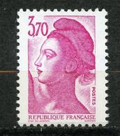 France, Yvert 2486b**, Liberté 3f70 Rose Sans Bande De Phosphore, Signé, MNH - Variétés: 1980-89 Neufs