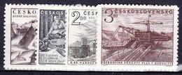** Tchécoslovaquie 1952 Mi 757-60 (Yv 667-70), (MNH) - Ungebraucht