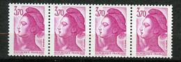 France, Spink (2019) 2490c**, Liberté 3f70 Rose Sans Bande De Phosphore Tenant à Normaux, Signé, MNH - Variétés: 1980-89 Neufs