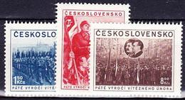 ** Tchécoslovaquie 1953 Mi 780-2 (Yv 686-8), (MNH) - Nuovi