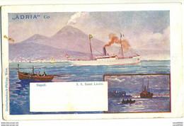 "CPA Guerre KRIEGSSCHIFFE Bateau SHIP "" S.S. SZENT LASZLO "" NAPOLI ADRIA & CO. Rare - Warships"