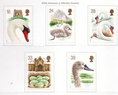 PIA  -  GRAN  BRET.-1993 : Fauna - I Cigni   -   (Yv 1645-49) - Swans