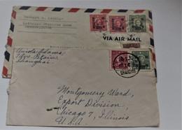 China Chine 1946 Hankow &shanghai To USA - 1912-1949 Republiek