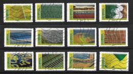 Mosaïque De Paysages - Série De 12 Timbres Oblitérés (2020) - Adhésifs (autocollants)