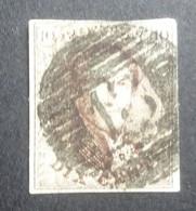 BELGIE  1861    Nr. 10   P 13   Centrale Stempel  Bastogne  Nipa 750        Gestempeld   CW 10,00 - 1858-1862 Medaillons (9/12)