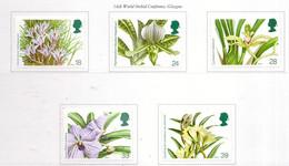 PIA  -  GRAN  BRET.-1993 : 14° Conferenza Mondiale Su L' Orchidea A Glasgow   -   (Yv 1665-69) - Unused Stamps